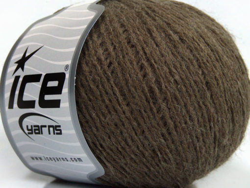 Lot of 8 Skeins Ice Yarns RONDO WOOL (40% Wool) Hand Knitting Yarn Brown