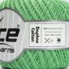 Lot of 6 Skeins Ice Yarns DAPHNE COTTON (100% Mercerized Cotton) Yarn Mint Green