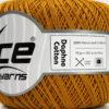 Lot of 6 Skeins Ice Yarns DAPHNE COTTON (100% Mercerized Cotton) Yarn Caramel