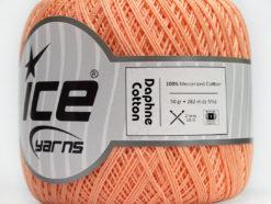 Lot of 6 Skeins Ice Yarns DAPHNE COTTON (100% Mercerized Cotton) Yarn Light Salmon