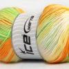 Lot of 4 x 100gr Skeins Ice Yarns MAGIC BABY Yarn Green Orange Yellow White