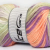 Lot of 4 x 100gr Skeins Ice Yarns MAGIC BABY Yarn Lilac Light Salmon Light Green White