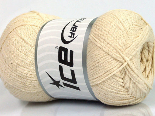 Lot of 4 x 100gr Skeins Ice Yarns NATURAL COTTON AIR (100% Cotton) Yarn Cream