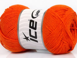 Lot of 4 x 100gr Skeins Ice Yarns NATURAL COTTON AIR (100% Cotton) Yarn Orange