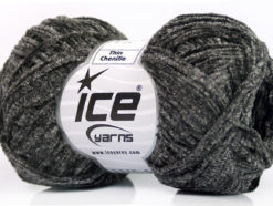 Lot of 8 Skeins Ice Yarns THIN CHENILLE Hand Knitting Yarn Grey Shades