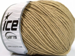 Lot of 4 x 100gr Skeins Ice Yarns COTTON BAMBOO LIGHT (60% Bamboo 40% Cotton) Yarn Light Camel
