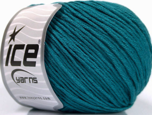 Lot of 4 x 100gr Skeins Ice Yarns COTTON BAMBOO LIGHT (60% Bamboo 40% Cotton) Yarn Teal