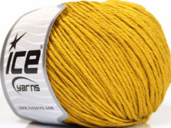 Lot of 4 x 100gr Skeins Ice Yarns COTTON BAMBOO LIGHT (60% Bamboo 40% Cotton) Yarn Gold