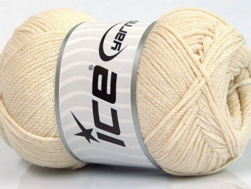 Lot of 4 x 100gr Skeins Ice Yarns NATURAL COTTON AIR (100% Cotton) Yarn Ecru