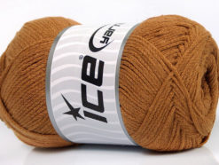 Lot of 4 x 100gr Skeins Ice Yarns NATURAL COTTON AIR (100% Cotton) Yarn Light Brown