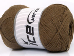 Lot of 4 x 100gr Skeins Ice Yarns NATURAL COTTON AIR (100% Cotton) Yarn Brown