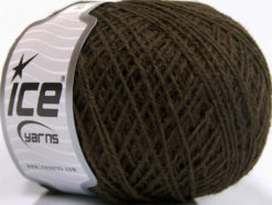 Lot of 8 Skeins Ice Yarns WOOL FINE 30 (30% Wool) Hand Knitting Yarn Brown