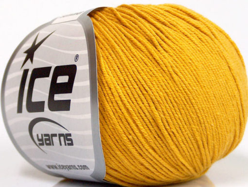 Lot of 8 Skeins Ice Yarns BABY SUMMER (60% Cotton) Hand Knitting Yarn Gold