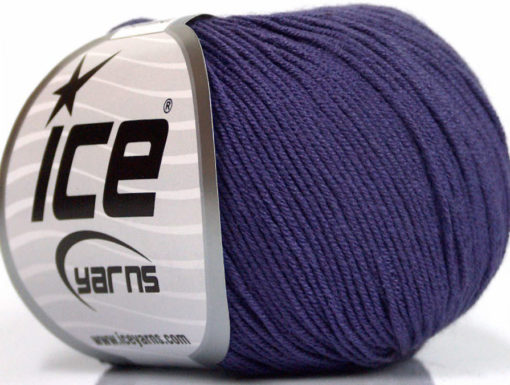 Lot of 8 Skeins Ice Yarns BABY SUMMER (60% Cotton) Hand Knitting Yarn Purple