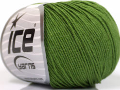 Lot of 4 Skeins Ice Yarns AMIGURUMI COTTON (60% Cotton) Yarn Forest Green