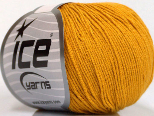Lot of 4 Skeins Ice Yarns AMIGURUMI COTTON (60% Cotton) Hand Knitting Yarn Gold