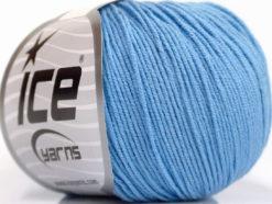 Lot of 4 Skeins Ice Yarns AMIGURUMI COTTON (60% Cotton) Yarn Light Blue