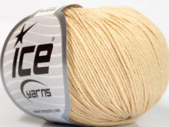 Lot of 8 Skeins Ice Yarns BABY SUMMER (60% Cotton) Yarn Dark Cream