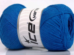 Lot of 4 x 100gr Skeins Ice Yarns NATURAL COTTON AIR (100% Cotton) Yarn Royal Blue