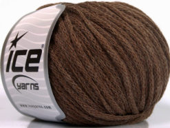 Lot of 8 Skeins Ice Yarns AIRWOOL WORSTED (50% Wool) Yarn Brown Melange