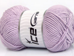 Lot of 4 x 100gr Skeins Ice Yarns LORENA WORSTED (55% Cotton) Yarn Light Lilac