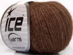 Lot of 6 Skeins Ice Yarns SILK MERINO (35% Silk 65% Merino Wool) Yarn Brown