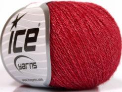 Lot of 6 Skeins Ice Yarns SILK MERINO (35% Silk 65% Merino Wool) Yarn Red