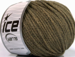 Lot of 8 Skeins Ice Yarns AIRWOOL WORSTED (50% Wool) Yarn Khaki Melange