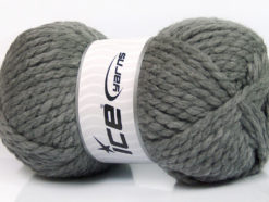 Lot of 2 x 150gr Skeins Ice Yarns SuperBulky ALPINE (45% Wool) Yarn Grey