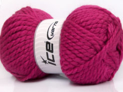 Lot of 2 x 150gr Skeins Ice Yarns SuperBulky ALPINE (45% Wool) Yarn Fuchsia