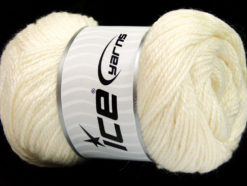 Lot of 4 x 100gr Skeins Ice Yarns NORSK (45% Alpaca 25% Wool) Yarn Off White