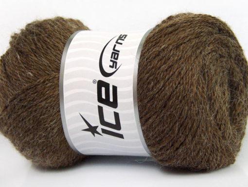 Lot of 4 x 100gr Skeins Ice Yarns NORSK (45% Alpaca 25% Wool) Yarn Brown