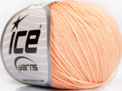 Lot of 6 Skeins Ice Yarns BABY MERINO (40% Merino Wool) Yarn Light Salmon