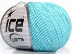 Lot of 8 Skeins Ice Yarns BABY SUMMER (60% Cotton) Yarn Light Turquoise