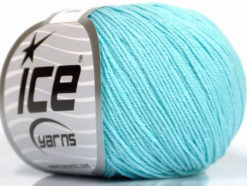 Lot of 4 Skeins Ice Yarns AMIGURUMI COTTON (60% Cotton) Yarn Light Turquoise