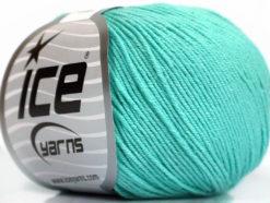 Lot of 4 Skeins Ice Yarns AMIGURUMI COTTON (60% Cotton) Yarn Mint Green