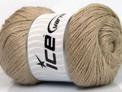 Lot of 4 x 100gr Skeins Ice Yarns NORSK FINE (45% Alpaca 25% Wool) Yarn Camel