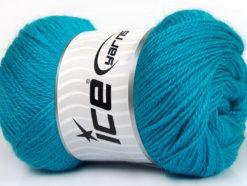 Lot of 4 x 100gr Skeins Ice Yarns NORSK FINE (45% Alpaca 25% Wool) Yarn Turquoise