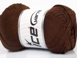 Lot of 4 x 100gr Skeins Ice Yarns BAMBOO SOFT (50% Bamboo) Yarn Brown