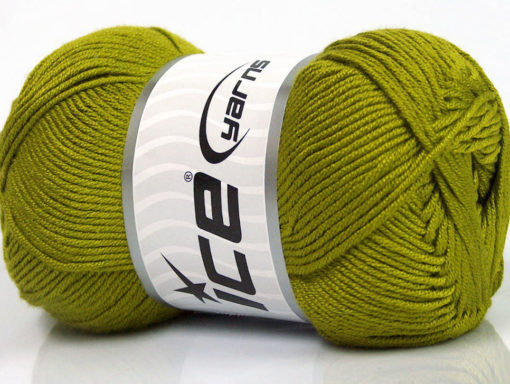 Lot of 4 x 100gr Skeins Ice Yarns BAMBOO SOFT (50% Bamboo) Yarn Olive Green