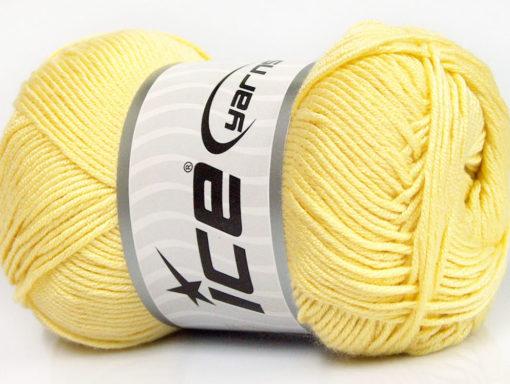 Lot of 4 x 100gr Skeins Ice Yarns BAMBOO SOFT (50% Bamboo) Yarn Yellow