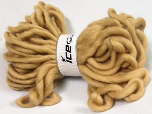 Lot of 2 x 200gr Skeins Ice Yarns JUMBO SUPERWASH WOOL (100% Superwash Wool) Yarn Beige