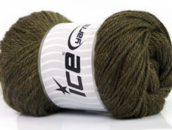 Lot of 4 x 100gr Skeins Ice Yarns NORSK (45% Alpaca 25% Wool) Yarn Dark Khaki