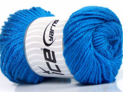 Lot of 4 x 100gr Skeins Ice Yarns NORSK (45% Alpaca 25% Wool) Yarn Blue