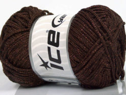 Lot of 4 x 100gr Skeins Ice Yarns MACRAME CORD Hand Knitting Yarn Brown Copper
