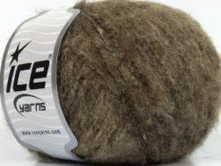 Lot of 8 Skeins Ice Yarns NEVADA WOOL (36% Wool) Yarn Brown Light Brown