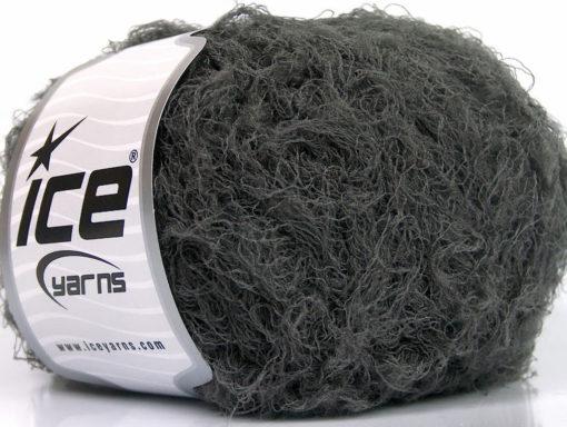 Lot of 8 Skeins Ice Yarns TECHNO WORSTED Hand Knitting Yarn Dark Grey