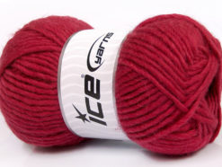 Lot of 4 x 100gr Skeins Ice Yarns FELTING WOOL (100% Wool) Yarn Dark Fuchsia