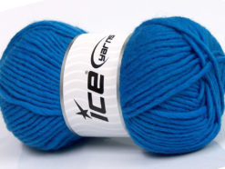 Lot of 4 x 100gr Skeins Ice Yarns FELTING WOOL (100% Wool) Yarn Royal Blue