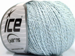 Lot of 4 Skeins Ice Yarns SILK COTTON (32% Silk 68% Cotton) Yarn Baby Blue